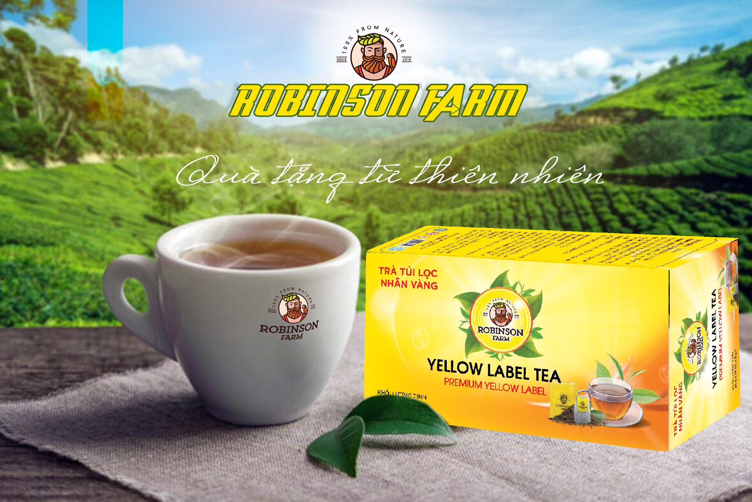 Trà đen nhãn vàng robinson farm
